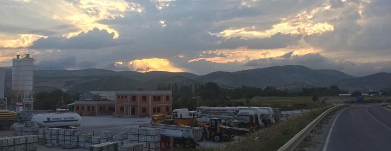 Sunset in Kosovo